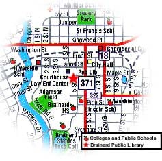 Brainerd Public Library Location Map