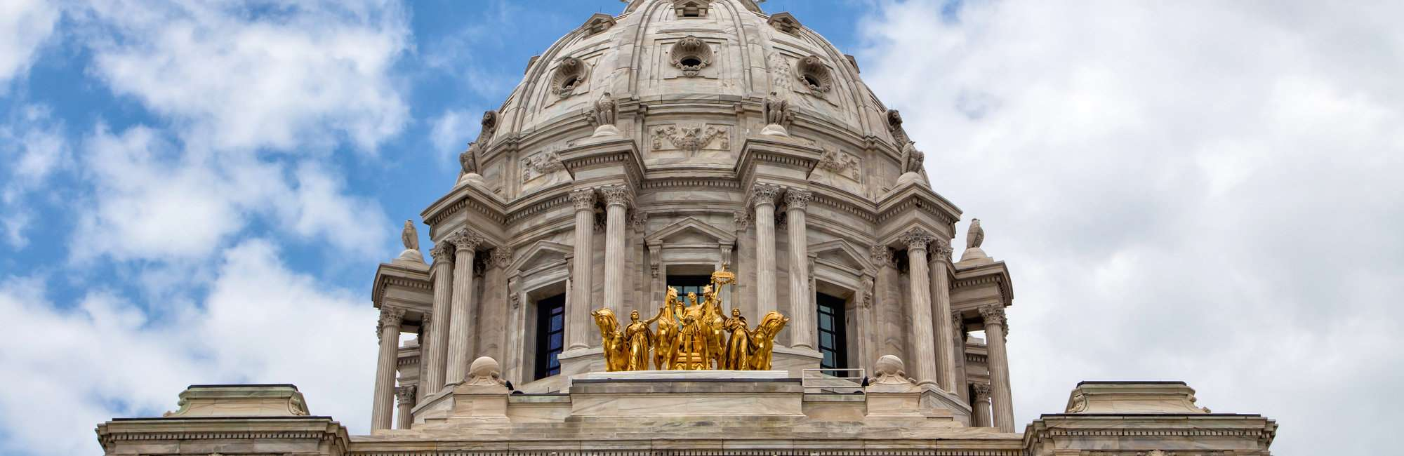 Minnesota State Capitol Building in St. Paul, Minnesota USA