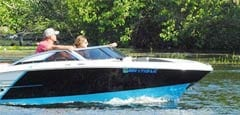 Boat in lake for rent
