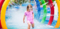 Little girl at waterpark