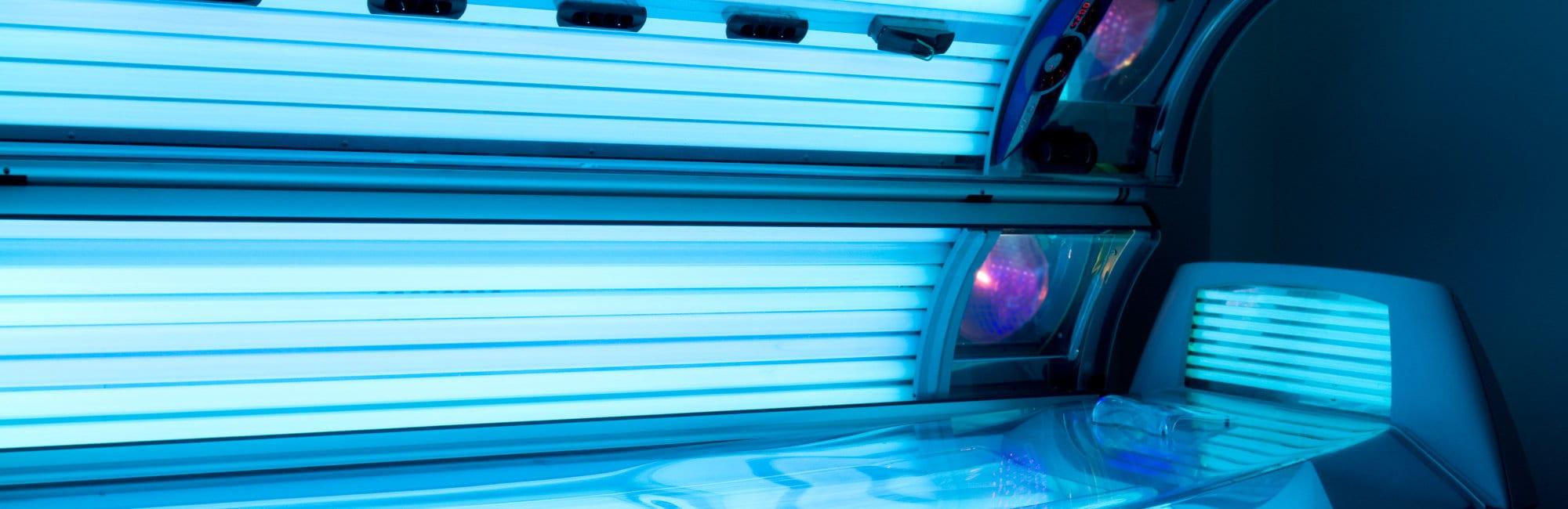 Tanning bed solrium at health club spa
